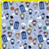 Doctor Who Inspired Parody Fabric