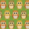Baby Owls Fabric Available for purchase at Spoonflower.com