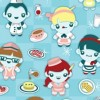 Breakfast at Flo's Diner Fabric Available for purchase at Spoonflower.com