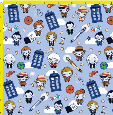 doctor who parody fabric