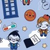 Eleven Doctors Available for purchase at Spoonflower.com