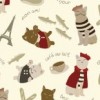 French Cats in Paris Fabric Available for purchase at Spoonflower.com