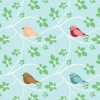 White Branches & Birds Fabric Available for purchase at Spoonflower.com