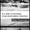 Advertisement concept for a financial services firm (black & white)