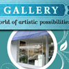 Postcard design for Aurora Gallery direct-mail campaign